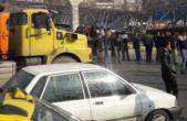 فیلمی دیگر از سقوط پل عابر پیاده در مشهد